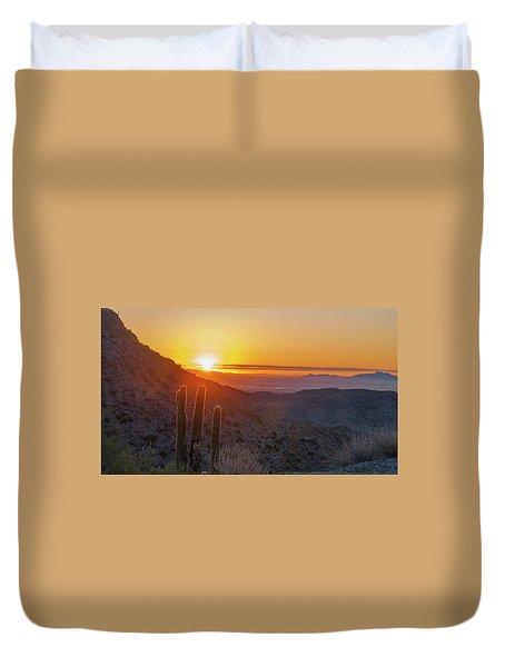 Saguaro Sunrise Duvet Cover
