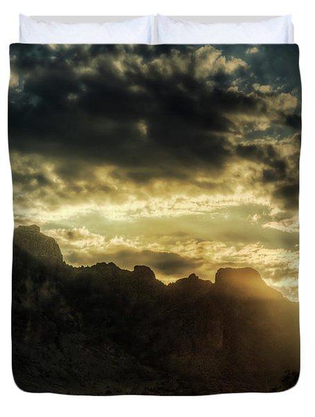 Saguaro Sunrise  Duvet Cover by Saija  Lehtonen