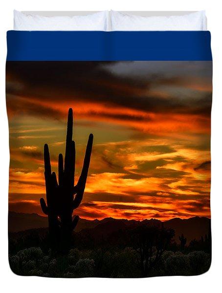 Saguaro Sunset H51 Duvet Cover