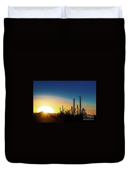 Saguaro Sunset Duvet Cover