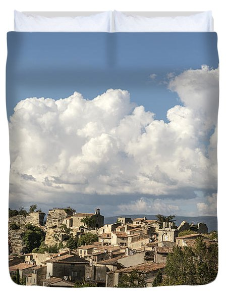 Duvet Cover featuring the photograph Saignon Village Provence  by Juergen Held