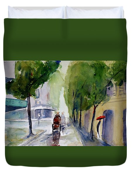 Saigon 1967 Tu Do Street Duvet Cover