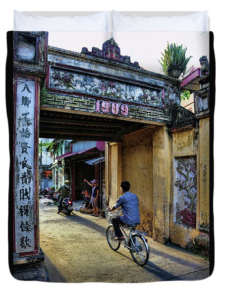 Saigon History  Duvet Cover by Chuck Kuhn