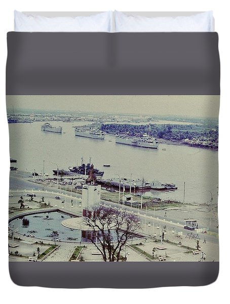 Saigon River, Vietnam 1968 Duvet Cover