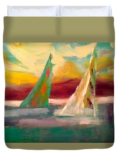 Sail Away 1 Duvet Cover