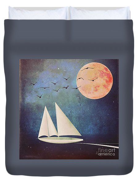 Sail Away Duvet Cover by Alexis Rotella