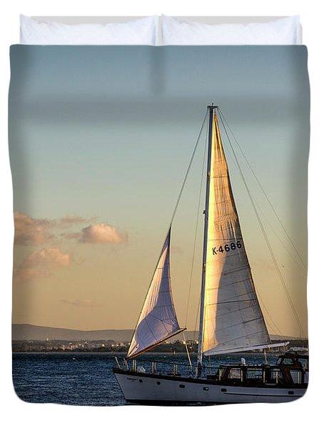 Sail Away From Lisbon Duvet Cover