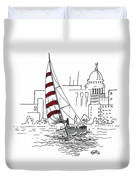 Sail Away Duvet Cover by Marilyn Smith