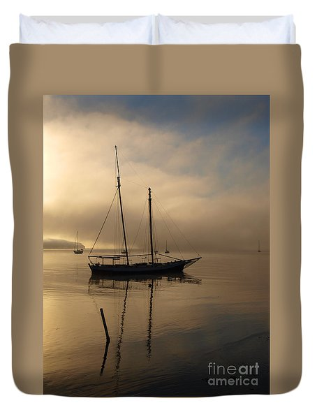 Sail Boat Duvet Cover by Trena Mara