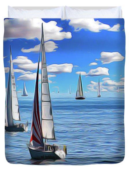 Sail Day Duvet Cover