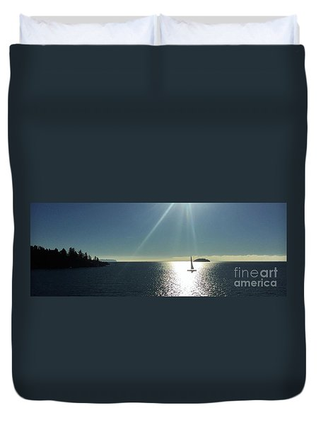 Sail Free Duvet Cover by Victor K