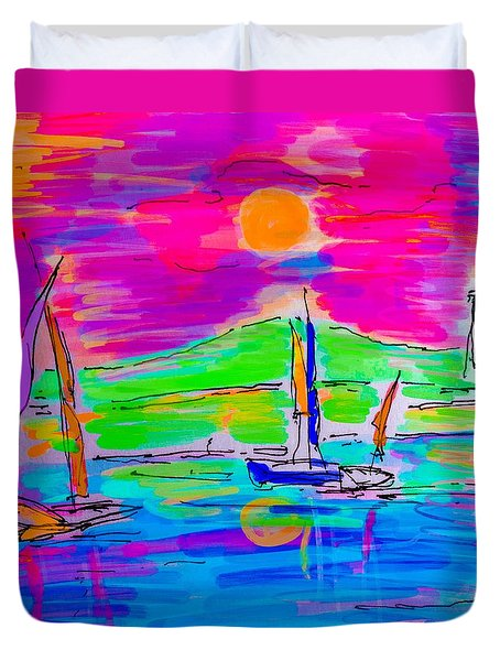 Sail Of The Century Duvet Cover