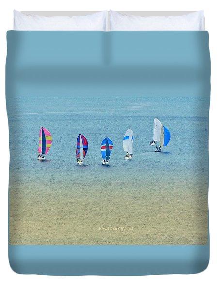 Sail Parade Duvet Cover