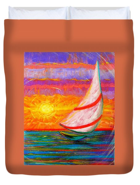 Sailaway Duvet Cover by Jeanette Jarmon