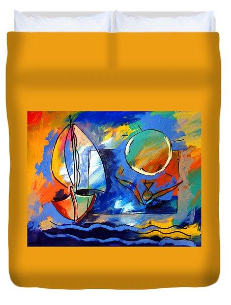 Sailboat 1 Duvet Cover