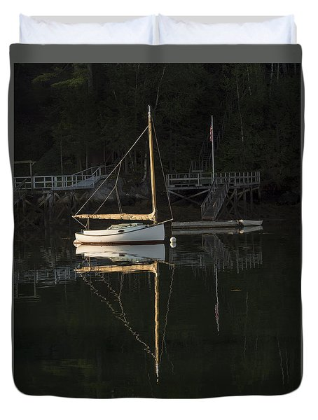 Sailboat At Rest Duvet Cover