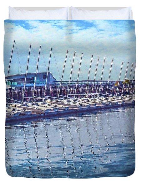 Sailboat Classes Duvet Cover