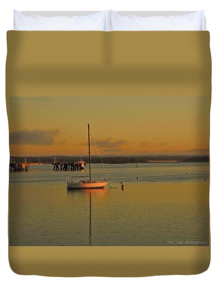 Sailboat Glow Duvet Cover