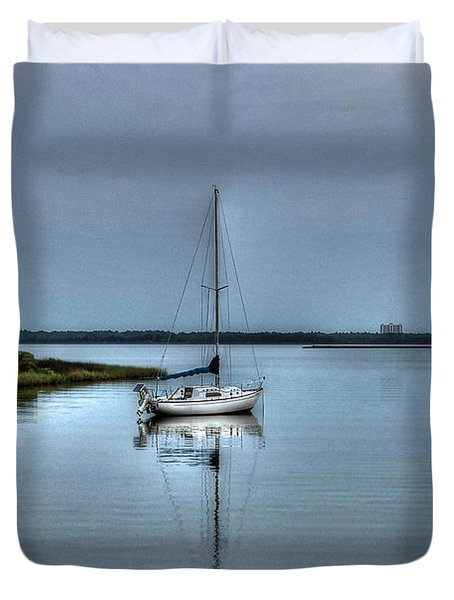 Sailboat Off Plash Duvet Cover