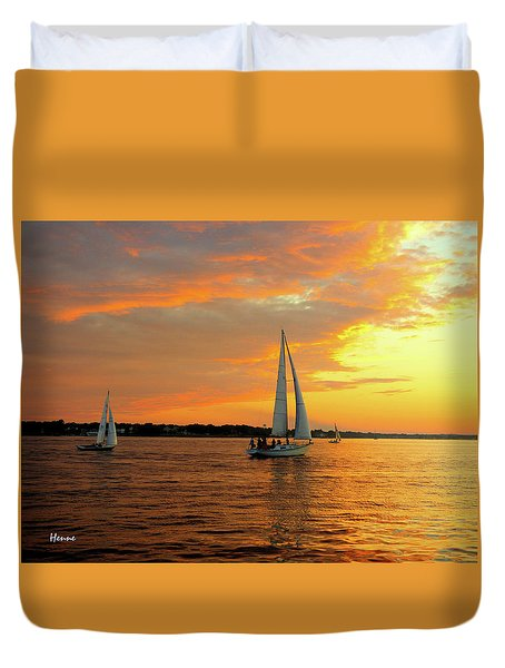 Sailboat Parade Duvet Cover