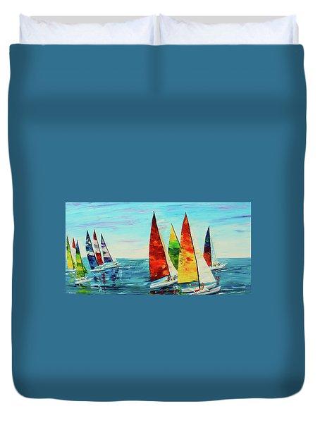 Sailboat Race Duvet Cover