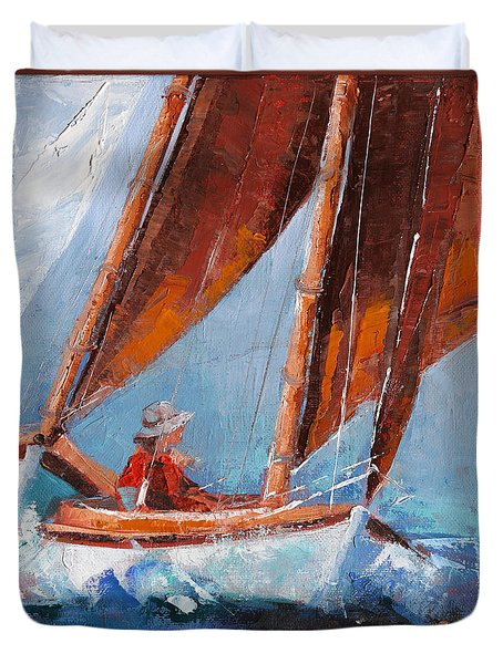Sailboat Therapy Duvet Cover