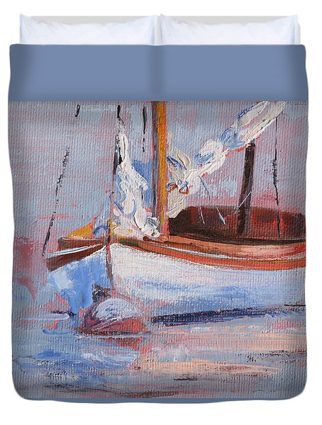 Sailboat Wisdom Duvet Cover