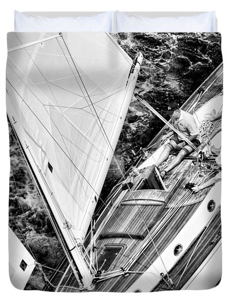 Sailing A Classic Duvet Cover