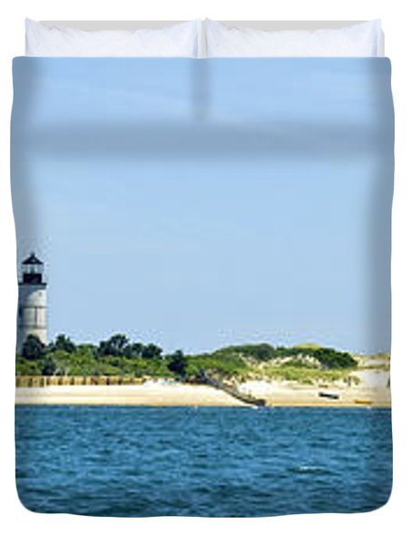 Sailing Around Barnstable Harbor Duvet Cover