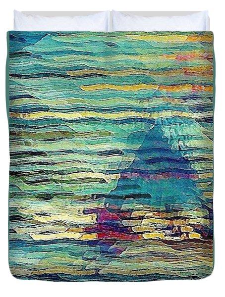 Sailing At Sunrise Duvet Cover