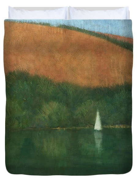 Sailing At Trelissick Duvet Cover by Steve Mitchell