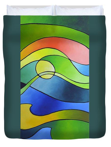 Sailing Away, Canvas Three Duvet Cover