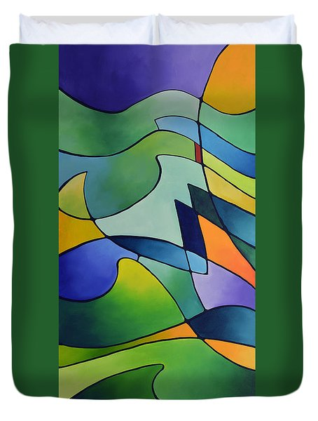 Sailing Away, Canvas One Duvet Cover