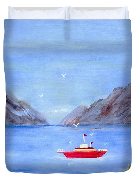 Sailing Away Duvet Cover
