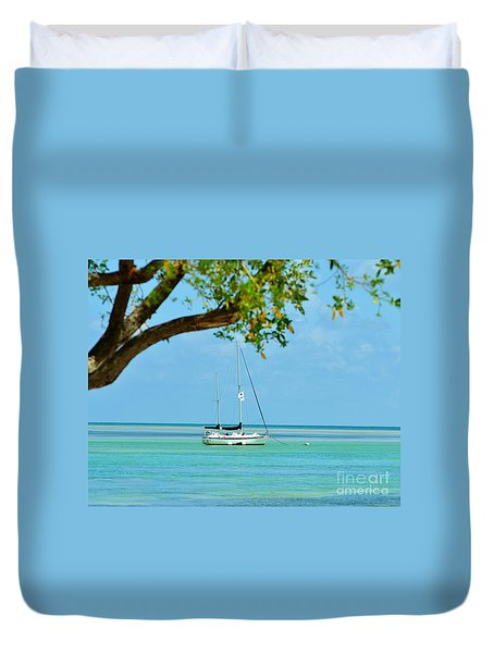 Sailing Away To Key Largo Duvet Cover