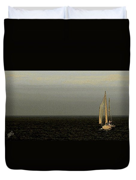 Duvet Cover featuring the photograph Sailing by Ben and Raisa Gertsberg