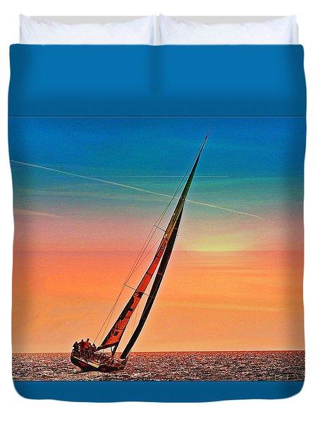 Sailing Boat Nautical 3 Duvet Cover