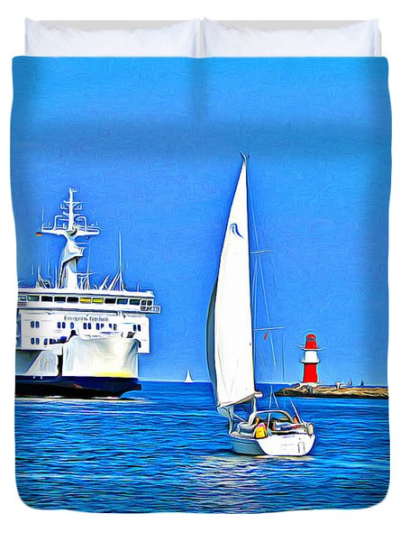 Sailing Boats Duvet Cover
