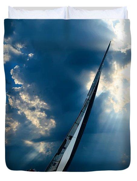 Sailing Boats At Sea , Photography , Duvet Cover