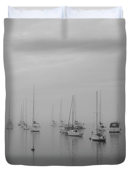 Sailing Bw Duvet Cover