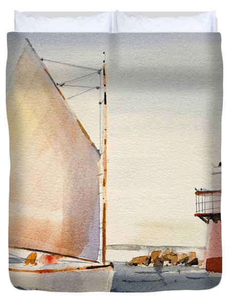 Sailing By Buglight  Duvet Cover