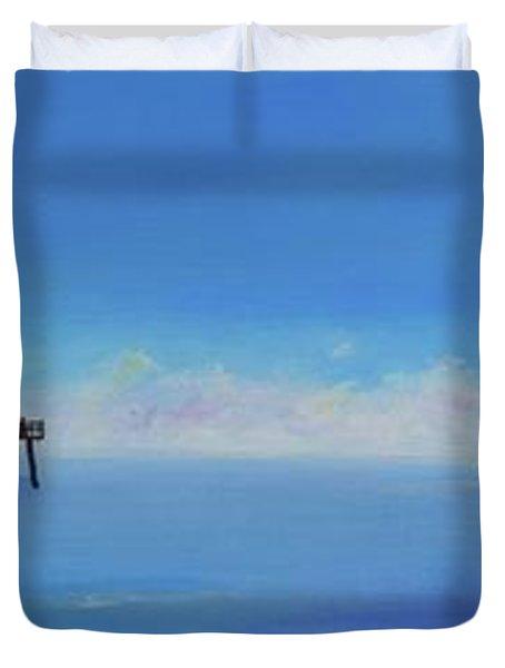 Sailing By San Clemente Duvet Cover