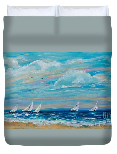Sailing Close To The Shore Duvet Cover