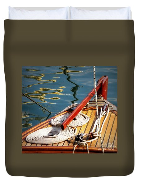 Sailing Dories 4 Duvet Cover