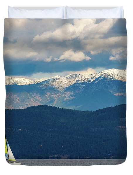 Sailing Flathead Lake Duvet Cover