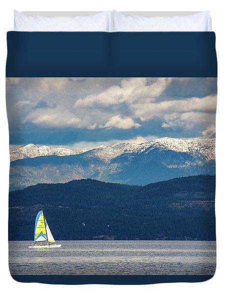 Sailing Flathead Lake Duvet Cover