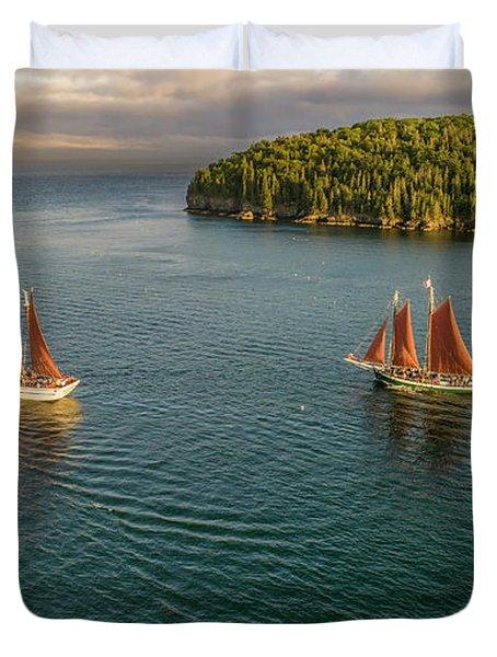Sailing Frenchman Bay Duvet Cover