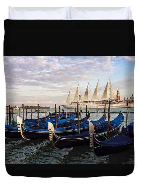 Sailing From Venice Duvet Cover
