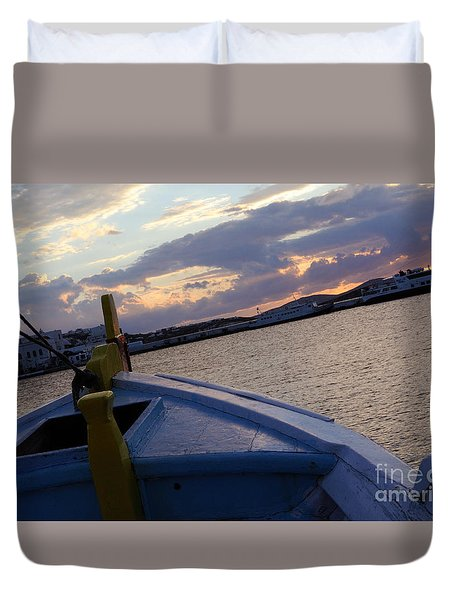 Duvet Cover featuring the photograph Sailing by Haleh Mahbod