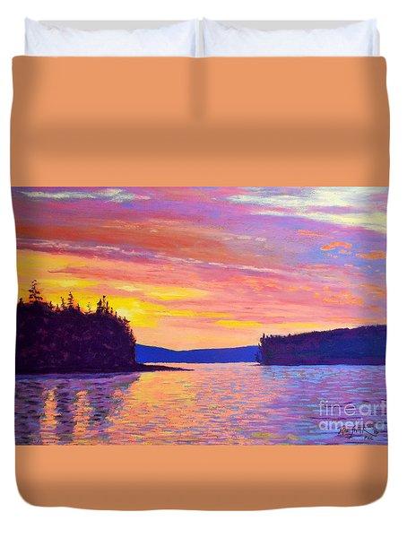 Sailing Home Sunset Duvet Cover